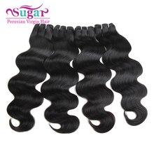 Peruvian Body Wave 4Bundles 7A Peerless Virgin Hair Peruvian Body Wave 1B 100% Virgin Peruvian Human Hair Weave Bundle Deals