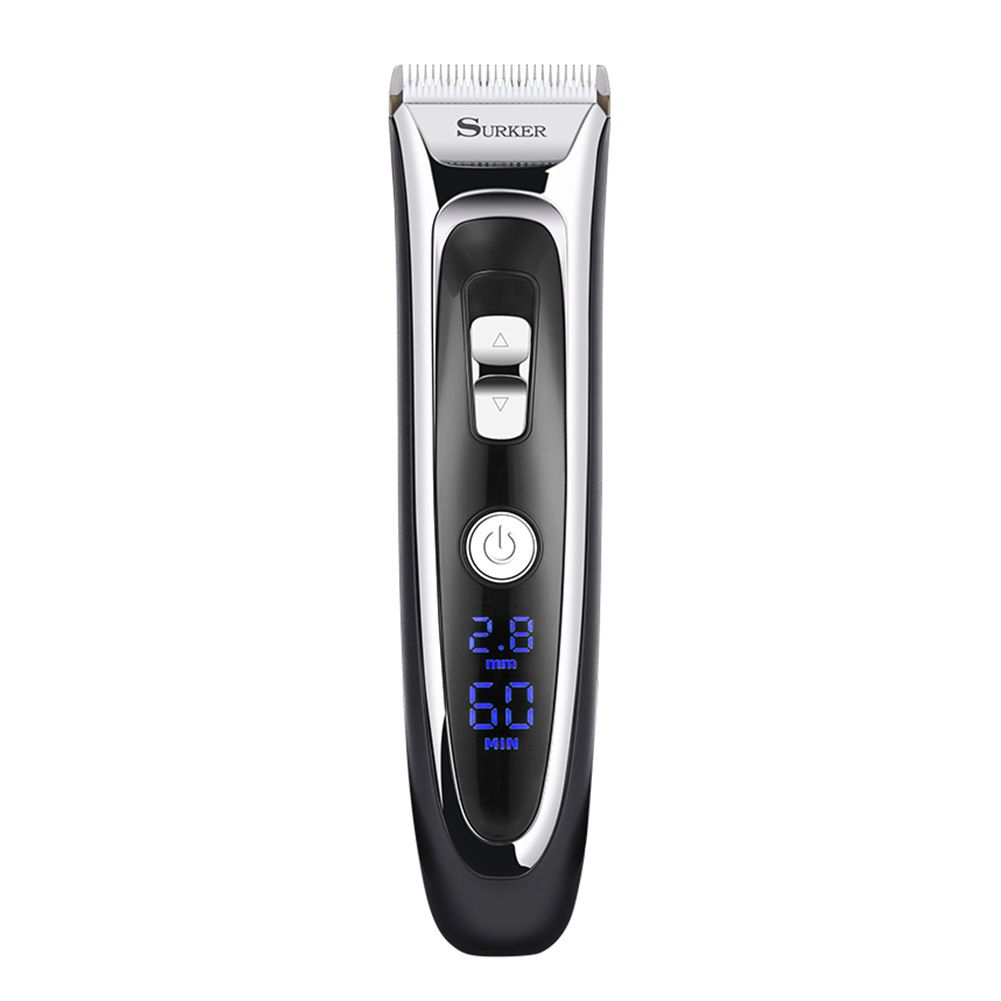 Model Electric Foil Hair Trimmer for Men with Clean Charge Station Electric Men Women Hair Clippers Cut surker model rfc 688b electric foil hair trimmer for men with clean