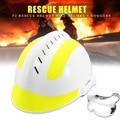 1 Set Safurance Rettungs Helm Für Feuer Kämpfer mit Schutzbrille Sicherheit Protector Weiß Arbeitsplatz Harte Hut Sicherheit Liefert