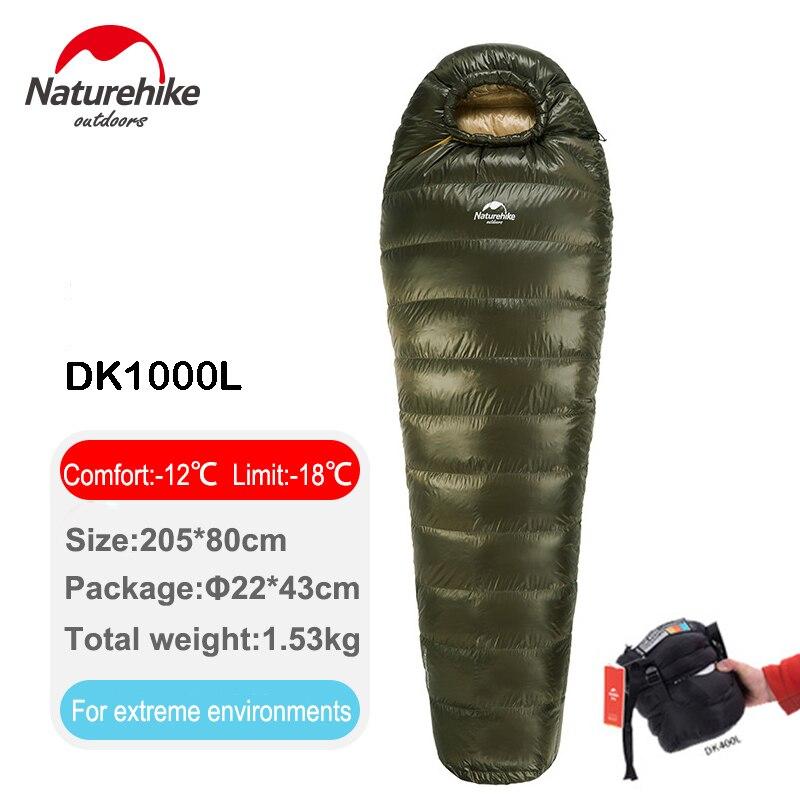 NatureHike Nuovo Giù Sacco A Pelo per Backpacking Escursionismo Camping Ultralight Mummia Giù Sacchetto con Leggero Sacco di Compressione