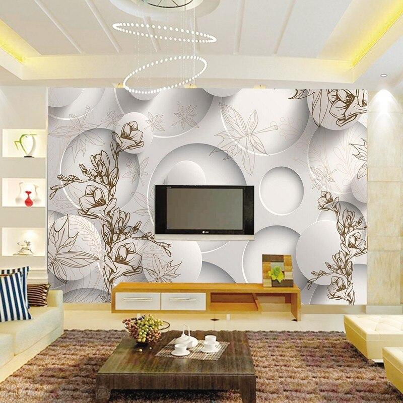 Personnalise Photo Papier Peint Moderne 3d Stereoscopique Magnolia