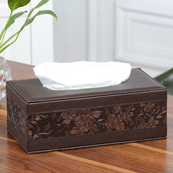 Leather Tissue Box Rectangle Square Pen Remote Storage desk organizer Paper Napkin Towel holder dispenser cover cases