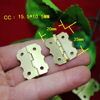 In Stock 50pcs 25 20mm Small Hinge Closing Cabinet Hinges Butterfly Hinge Wooden Wine Box 90