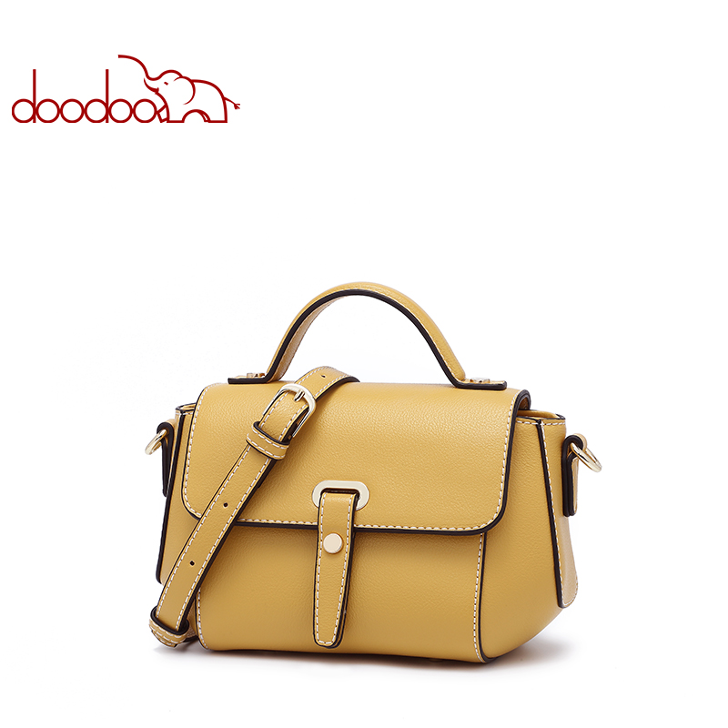 Doodoo High Quality Small Ladies Messenger Bags Leather Shoulder Bags Women Crossbody Bag for Girl brand