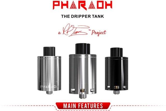 Original Digiflavor Pharaoh Tank Vape Vaporizer Rebuildable Dripper Tank 2ml E-liquid Capacity RiP Trippers Pharaoh 25 Atomizer