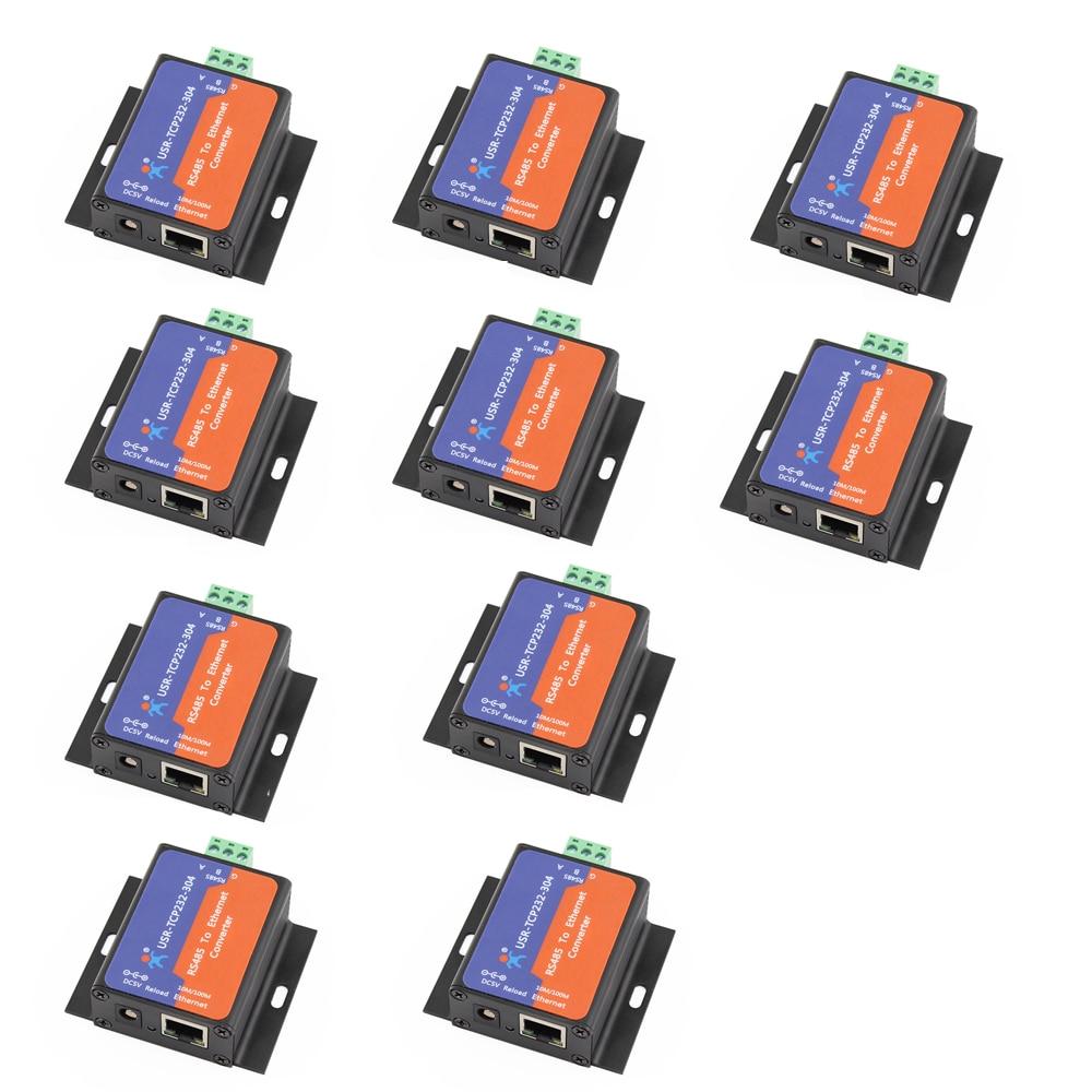 bilder für 10 Stücke Q14870-10 USR-TCP232-304 Serielle RS485 zu TCP/IP Ethernet Server Converter Modul mit Eingebautem Webseite DHCP/DNS Unterstützt