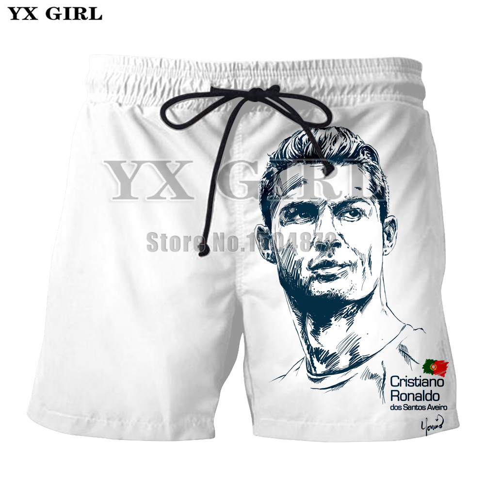 YX Girl Character Clothes Cristiano Ronaldo 3d Printed Shorts Men Summer Short Trousers Beach Mens Shorts Unisex Jogger Shorts in Casual Shorts from Men 39 s Clothing