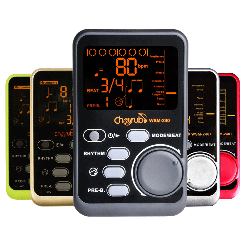 Free shipping portable digital metronome instrument enthusiast piano violin guitar drum 3 sounds black metronome tone generator
