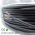 10 m tira RGB 4pin Cabo 22AWG do fio Preto fio de extensão Para LED RGB Tira PVC isolou o fio Elétrico RVB cabo de cobre Puro