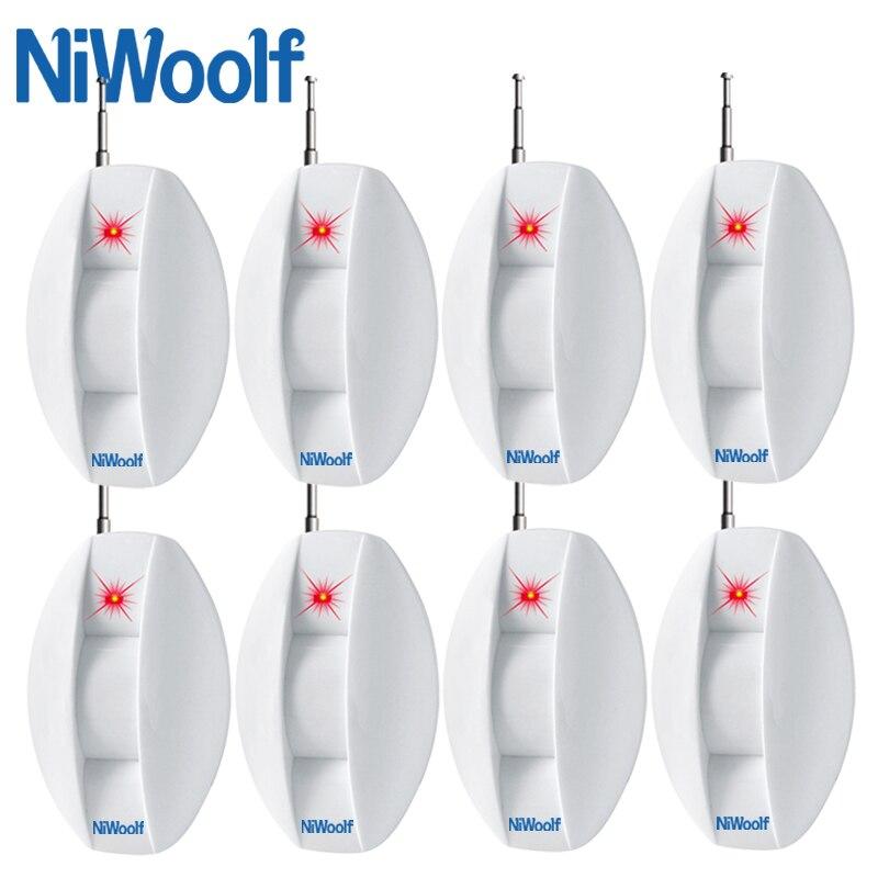 8 Stücke Enthalten Neue 433 Mhz Drahtlose Vorhang Infrarot Detektor Fenster Intrusion Alarm Für Wifi/gsm Alarm System