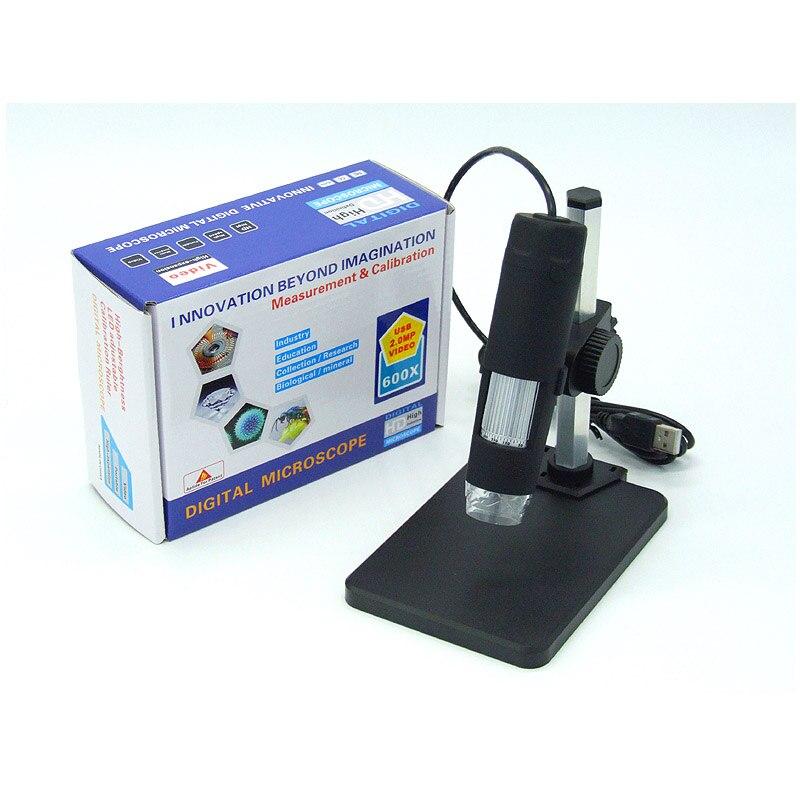 1 50x и 600x USB цифровой микроскоп + держатель (Новый) 8 светодиодный эндоскоп с измерительным программным обеспечением