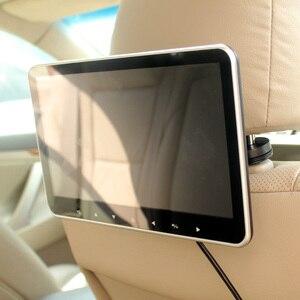 Image 2 - Süper ince 10 inç araba kafalık multimedya MP4 MP5 Video oynatıcı HD ekran monitör ile USB SD HDMI AV yuvası ve FM verici