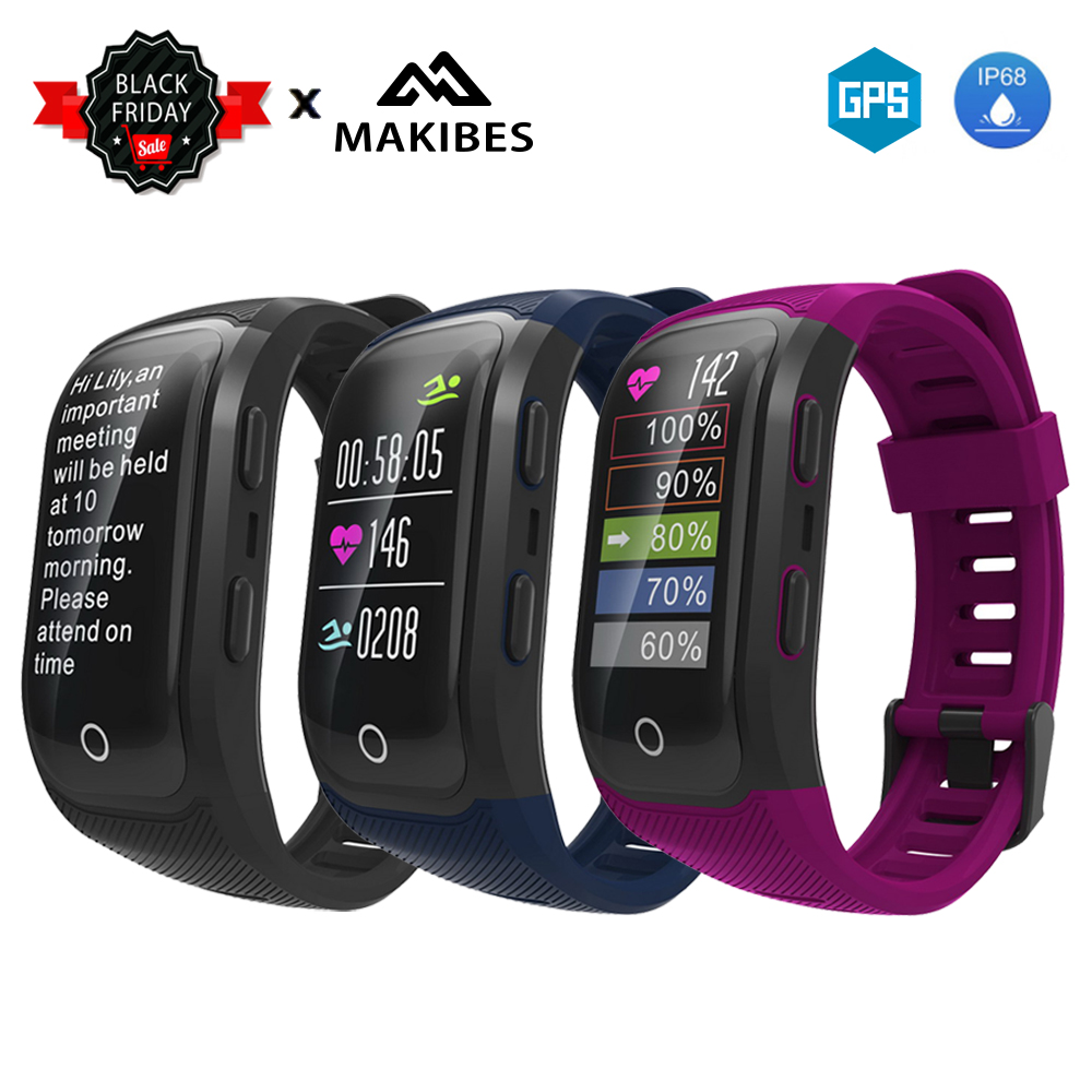 NEW Makibes G03 Plus GPS สมาร์ท IP68 Heart rate สายรัดข้อมือ Fitness activity Tracker สร้อยข้อมือสมาร์ท PK Mi band 3-ใน สายรัดข้อมืออัจฉริยะ จาก อุปกรณ์อิเล็กทรอนิกส์ บน AliExpress - 11.11_สิบเอ็ด สิบเอ็ดวันคนโสด 1