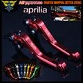 New Red CNC 2 finger Short Motorcycle Brake Clutch Levers For Aprilia RSV4/RSV4 FACTORY 2009 2010 2011 2012 2013 2014 2015 2016