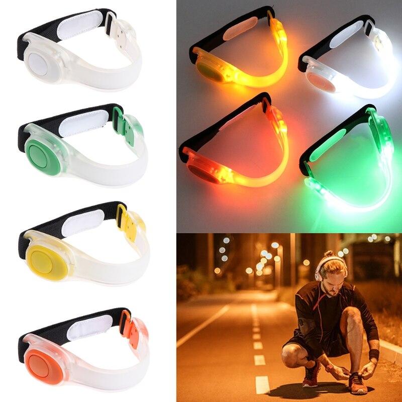 1Pc Reflective Safety Belt Arm Strap Night Cycling Running LED Armband Light Hot Sale