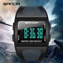 2019 SANDA męski zegarek wojskowy top marka luksusowy wodoodporny zegarek sportowy modny zegarek cyfrowy relogio masculino