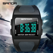 2019 SANDA military mens watch top brand luxury waterproof sports watch fashion digital watch relogio masculino