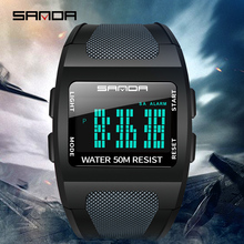 Reloj militar para hombre SANDA 2019, reloj deportivo de lujo resistente al agua, reloj digital de moda para hombre