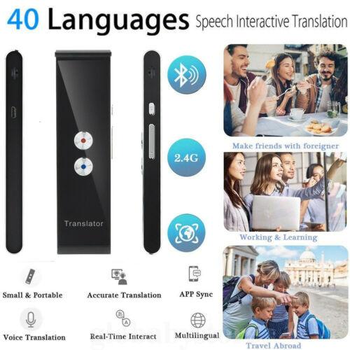 T8 Inteligente Tradutor De Voz Portátil Two-Way Em Tempo Real Multi-Idioma Tradução Intérprete Inteligente
