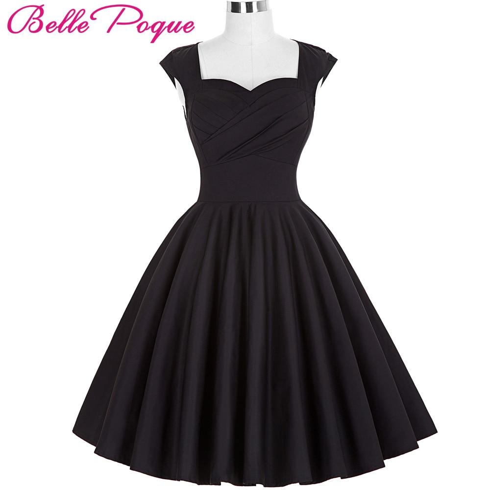 Belle Poque 50s Vintage Dresses 2018 Audrey Hepburn Rockabilly Vestidos Big Size Womens Clothes Summer Retro Casual Party Dress