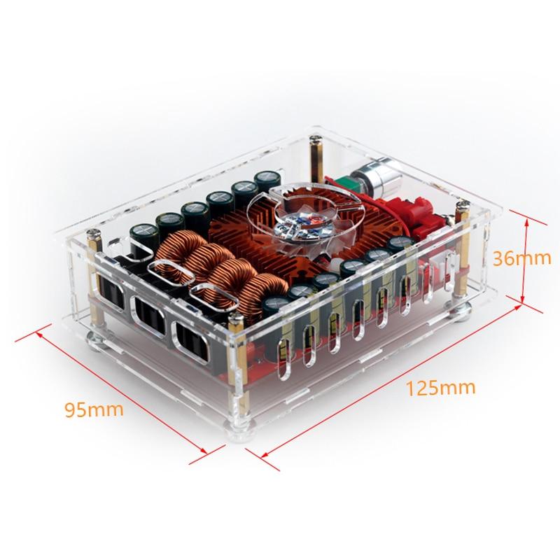 Aiyima 160 w * 2 TDA7498E Digitale Versterker Boord Dual Channel Stereo Audio Versterkers Ondersteuning BTL Modus Mono 220 w met Case-in Versterker van Consumentenelektronica op  Groep 3