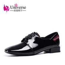Universe black wine red 2.5cm heel shoes women comfortable dress ladies J002