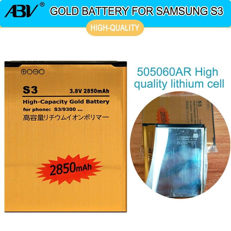 ABV glod Hohe Kapazität batterie EB-L1G6LLU Für samsung Galaxy S3 i9300 i9305 i879 T999 i9082 9300 Rechargeabl batterie