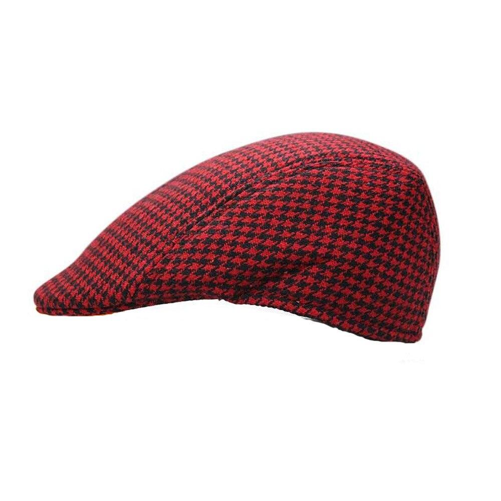 e528b871fd4 Winter Unisex Hat Newsboy Cap Women Flat Beret Cap For Male Thick Beret  Newsboy Hats Boina Vintage Plaid Warm Bonnet-in Newsboy Caps from Apparel  ...