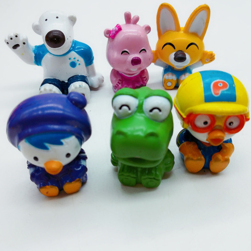 6pcs/lot Original Korean Super cute cartoon animation pororo pvc model figure Toys