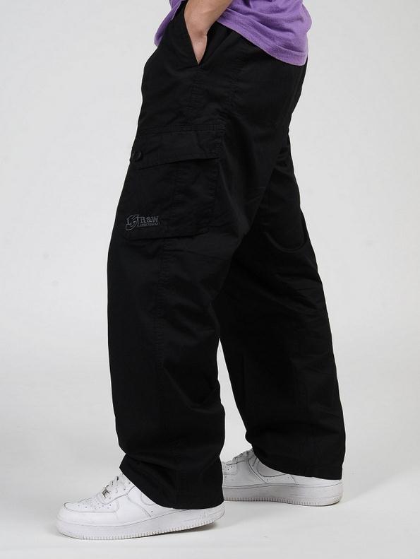 Мужские брюки-карго размера плюс XL 2XL 3XL 4XL 5XL 6XL, весенние мужские свободные брюки в стиле хип-хоп - Цвет: Черный