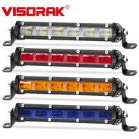 VISORAK 7 Red Amber Blue DRL 30W LED Work Light Bar Offroad LED Fog Light For Off road 4X4 4WD Truck ATV SUV LED Work Lamp