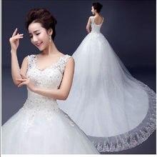 2017 Новейшие свадебные платья шикарное длинное платье с открытой