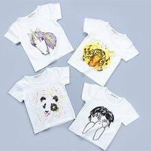 Brand Kids Baby Boys Girls T-Shirt New Summer Short Sleeve Tees Children's Tops Clothing Cotton Cartoon Pattern Tshirt Hot Sale