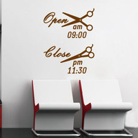 Open Time Hair Spa Beauty Salon Bar Pub Shop Nail Art Wall Art Sticker Decal Decal