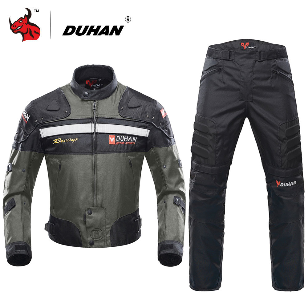 DUHAN Motorcycle Jackets Motocross Off Road Racing Jacket Motorcycle Protection Moto Jacket Motorbike Windproof Protective Gear