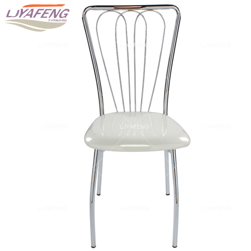 Modern minimalist kitchen household chair backrest leather chair dining table chair conference stool electroplating 9050a the artificial leather dining chair kitchen chair and iron chair are white according to the bar s kitchen family furn
