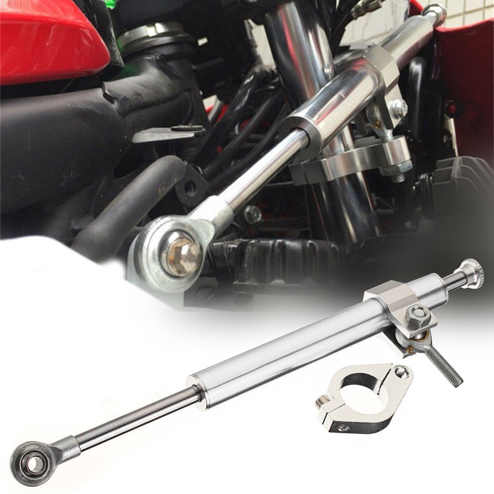 Universal 1pc 330mm Motorcycle Aluminum Steering Damper Stabilizer For All Race Bikes For Kawasaki For Ducati For Suzuki