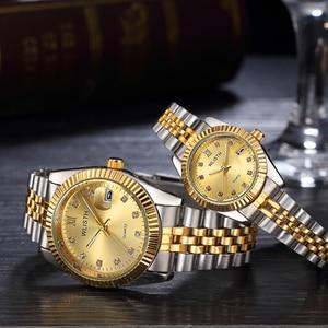 Image 3 - Couple Watch 2020 Mens Watches Top Brand Luxury  Quartz Watch Women Clock Ladies Dress Wristwatch Fashion Casual lovers Watch