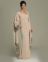 2017 Muslim Evening Dresses Long Sleeves champagne Chiffon Hijab Islamic Dubai Abaya Kaftan Long Evening Gown