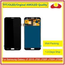 """מקורי 5.5 """"עבור Samsung Galaxy J7 2015 J700 J700F J700H J700M LCD תצוגה עם מסך מגע Digitizer פנל Pantalla מלא"""
