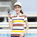 Stripe Plus Size Polo Shirt Women Ladies Cotton Short Sleeve T-shirt 2017 Summer Hot Sale Tee Shirt Tops For Women Fashion