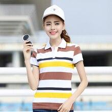 Striped Plus Size Polo Shirt Women Ladies Cotton Short Sleeve shirt 2017 Summer Hot Sale Tops For Women Fashion Female Clothing