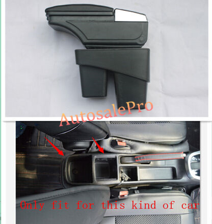 For Honda FIT Jazz 14-15 Low Equipped Model Armrest Center Console Storage Box Interior leather car center console armrest box for honda fit jazz sedan 2003 2004 2005 2006 armrests storage box free shipping