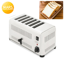 Stainess Steel 6-Slice Toaster Electric Bread Toast Machine 2500W Commercial Use Sandwich Maker Toast Grill Machine 220V