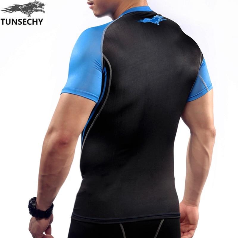 Erkek Kısa Kollu Üst Gömlek Sıkıştırma Gömlek Cilt Sıkı - Erkek Giyim - Fotoğraf 5