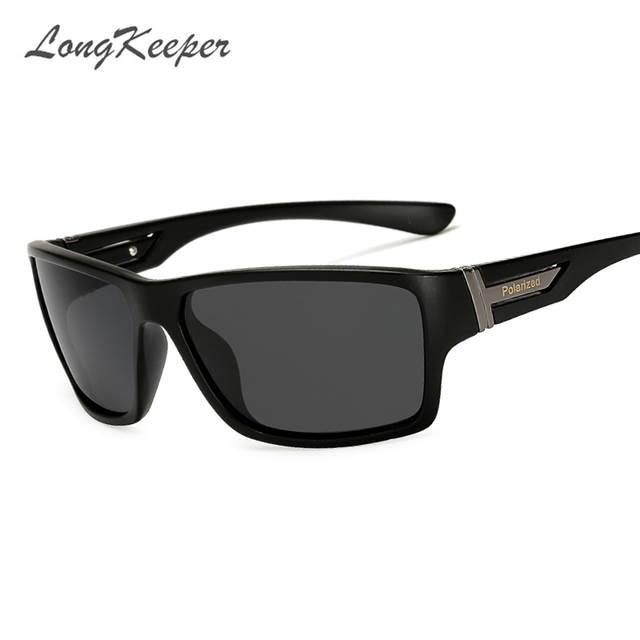 d04d37ec2b LongKeeper Brand Classic Polarized sunglasses Men Driving Square Black Frame  Eyewear Male Sun Glasses for men