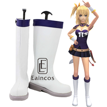 font b Anime b font Fairy Tail Lucy Heartphilia White Boots font b Cosplay b