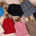 Мужчин и женщин Теплые вязаные Шапочки шляпы Сплошной цвет хлопка подкладка шапки Конопли шаблон Жаккардовые переплетения Skullies