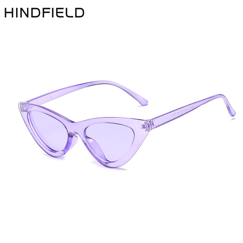 Hindfield Vintage Fashion Sunglasses Women Brand Designer Cateye Luxury Ladies Sunglasses Women 2018 High Quality Oculos in Women 39 s Sunglasses from Apparel Accessories