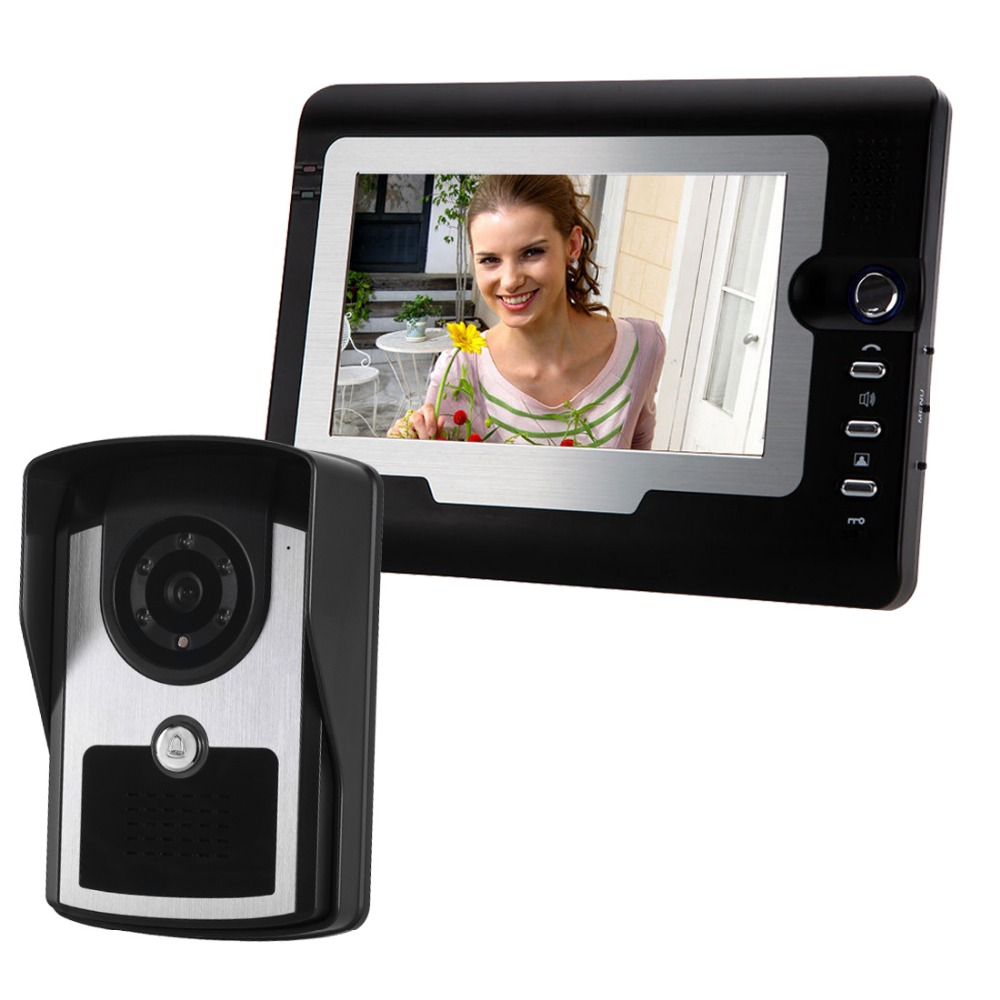 doorbell video 7 Inch Video Door Phone Intercom System Door Release Unlock Doorbell HD Camera With infrared night vision